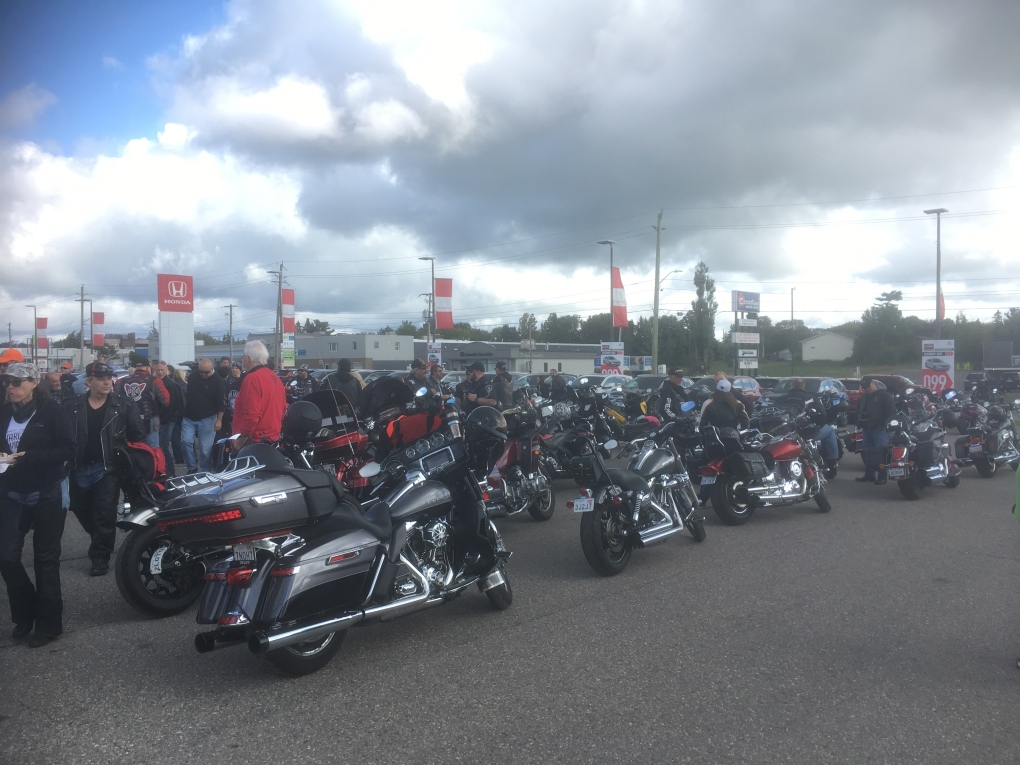 Bikers hit the streets for charity