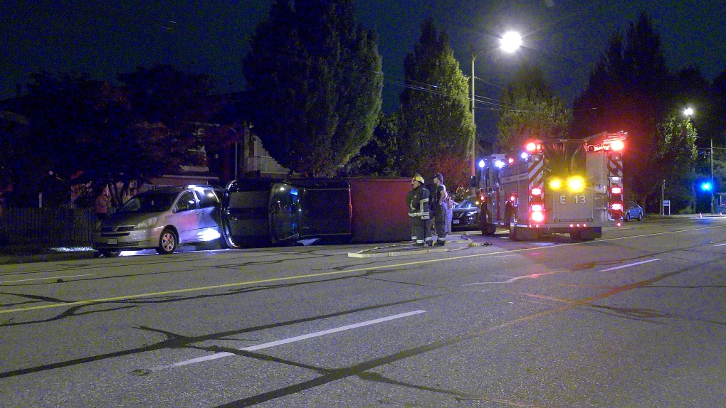 Driver sought after rollover crash in Vancouver