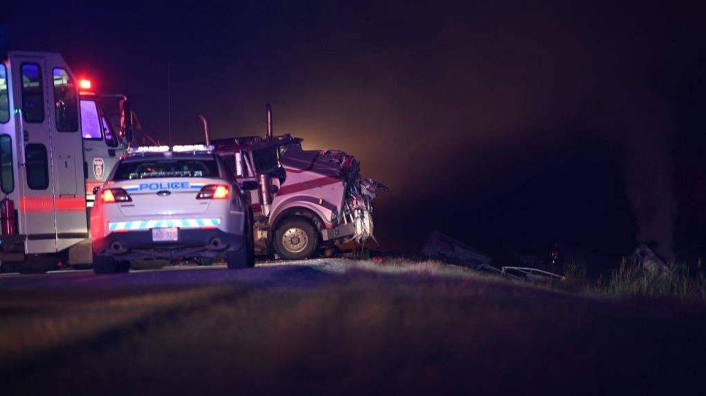 Woman killed, semi driver injured in crash south of Grande Prairie