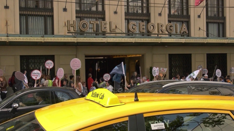 The union is also pointing a finger at the Hotel Georgia, saying it has not agreed to the same safety measures. (CTV)