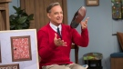 """This image released by Sony Pictures shows Tom Hanks as Mister Rogers in a scene from """"A Beautiful Day In the Neighborhood,"""" in theaters on Nov. 22. (Lacey Terrell/Sony-Tristar Pictures via AP)"""