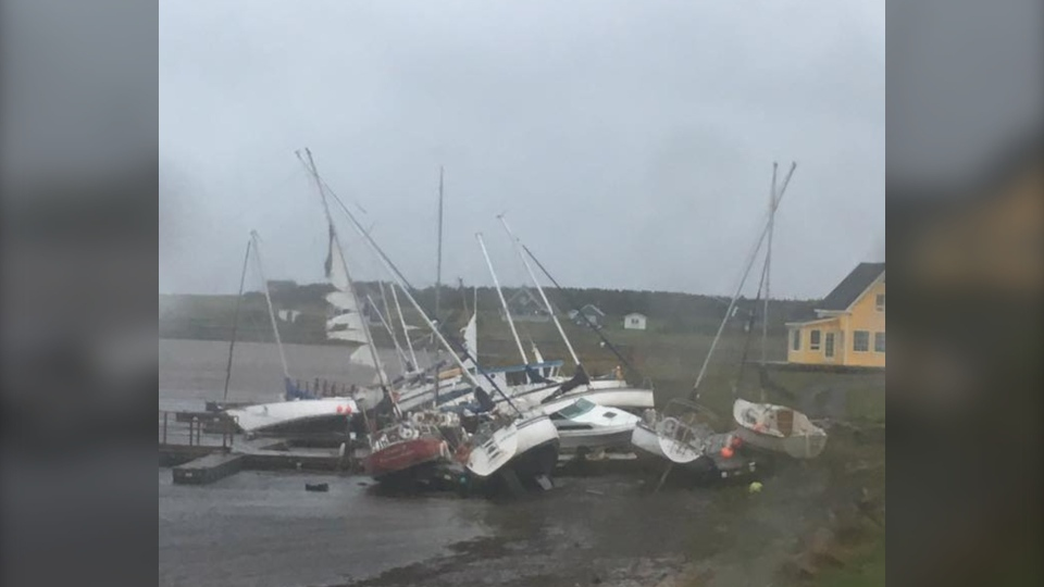 Ile-de-la-Madelein was hit hard by Hurricane Dorian and clean up now begins.