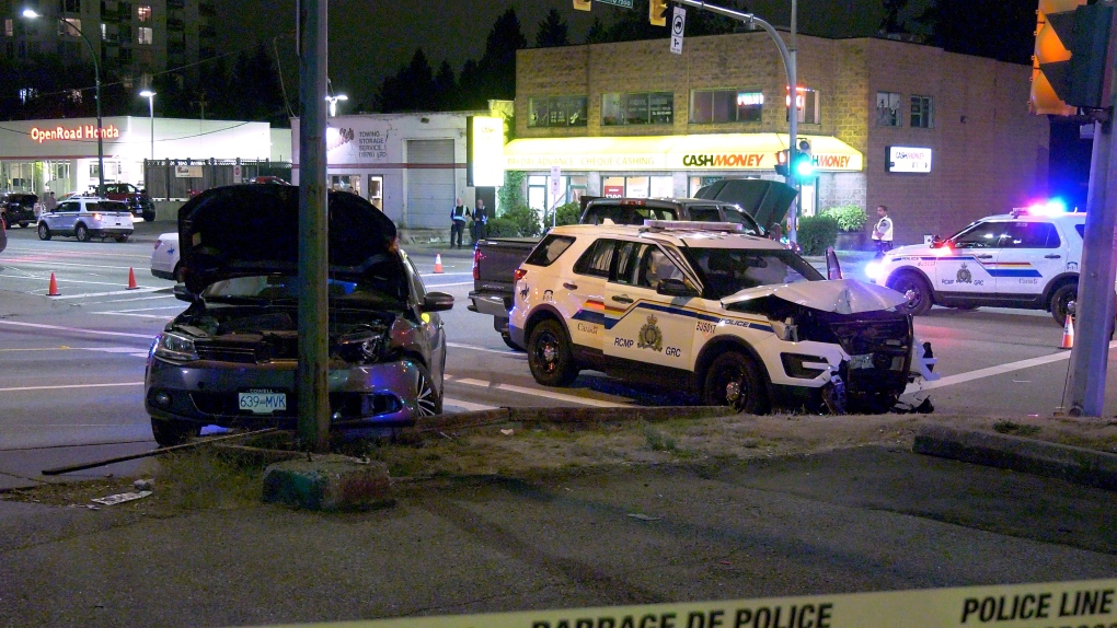 Burnaby RCMP cruiser involved in accident while responding to priority call