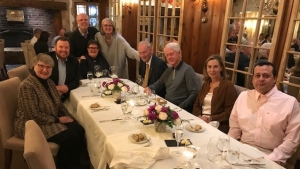 Best selling author posted a pic of a night out for dinner in Quebec with former world leaders Bill Clinton and Jean Chretien. (SOURCE Facebook)