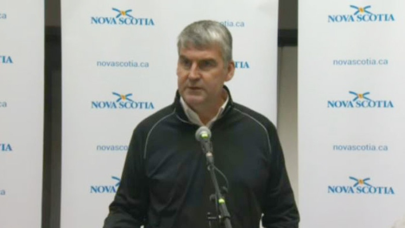 Nova Scotia Premier Stephen McNeil announces that all public schools in the province will be closed Monday during a news conference on Sept. 8, 2019.