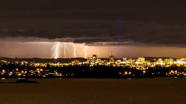 Vancouver Island lightning