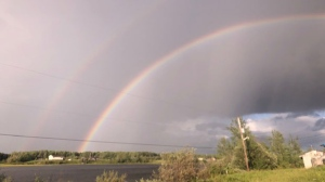 Berens River double rainbow. Photo by Abby Eastman.