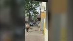 Video posted to reddit by user u/cainboi  shows moment of downtown London shooting.