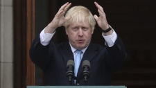 Britain's Prime Minister Boris Johnson in Dublin