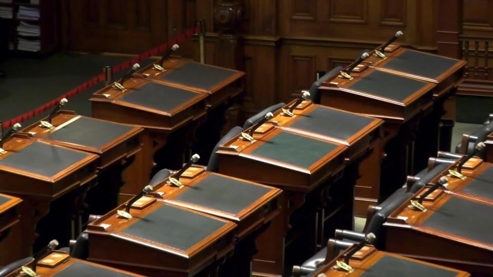 Ontario Legislature empty