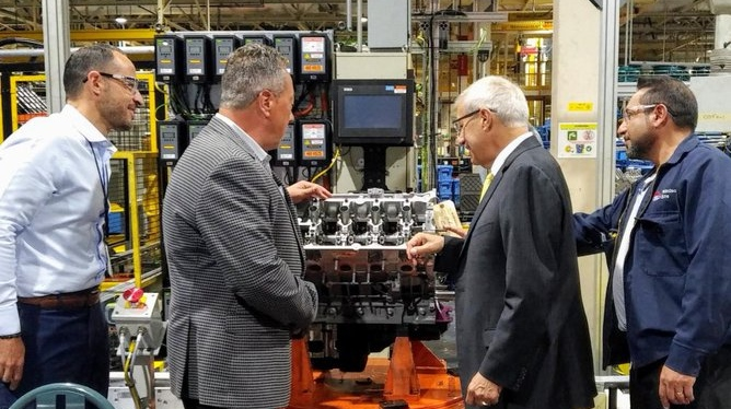 Vic Fedeli at Essex Engine Plant