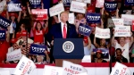 U.S. President Donald Trump speaks at a campaign rally in Fayetteville, N.C., Monday, Sept. 9, 2019. (AP Photo/Chris Seward)