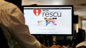 A new website from the Missing Children Society of Canada is seen on a computer in Toronto on Friday, Sept. 6, 2019. THE CANADIAN PRESS/Colin Perkel