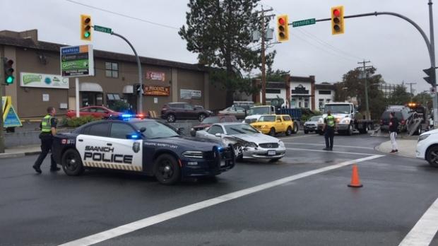 Quadra Street crash