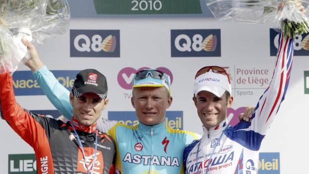 Valverde, Vinokourov and Kolobnev