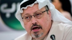 In this Dec. 15, 2014 file photo, Saudi journalist Jamal Khashoggi speaks during a press conference in Manama, Bahrain. (AP Photo/Hasan Jamali, File)