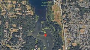 The CRD issued a water warning for Beaver Lake on Thursday, Dec. 12: (Google Maps)