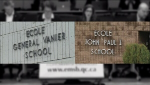 General Vanier School and John Paul I School were transferred into the French system.