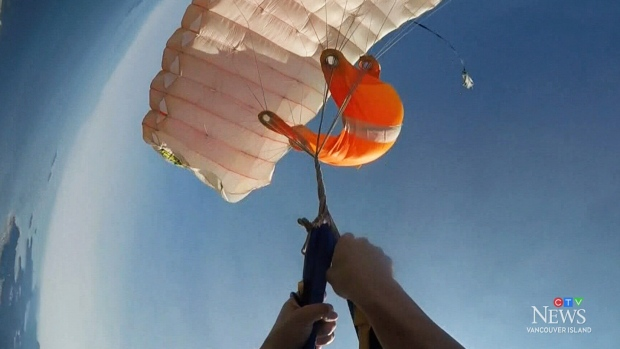 Island woman releases footage of skydiving mishap | CTV News