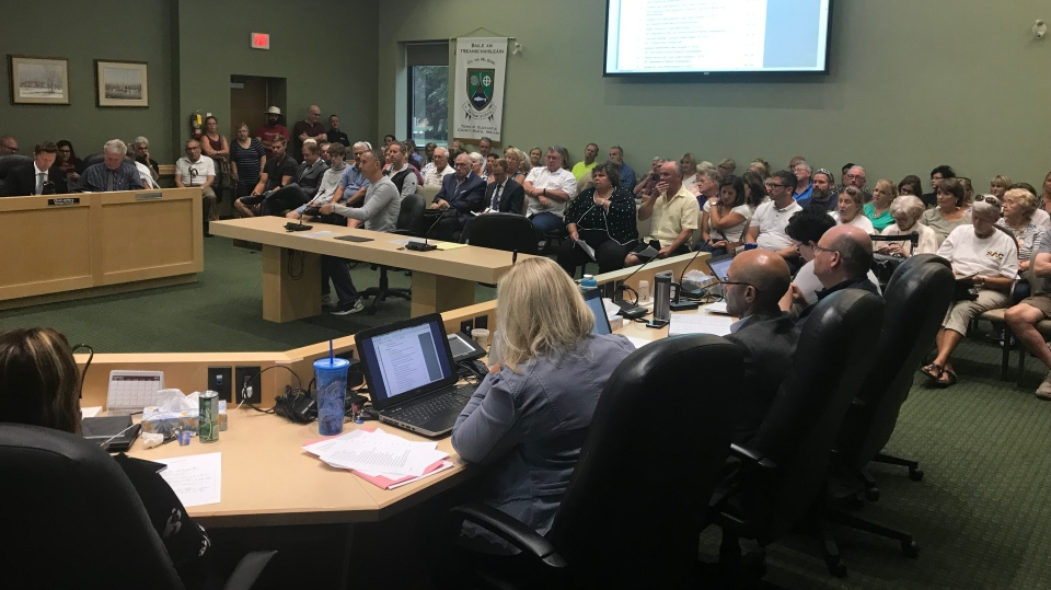 Tecumseh residents filled council chambers on September 10, 2019. (Angelo Aversa / CTV Windsor)