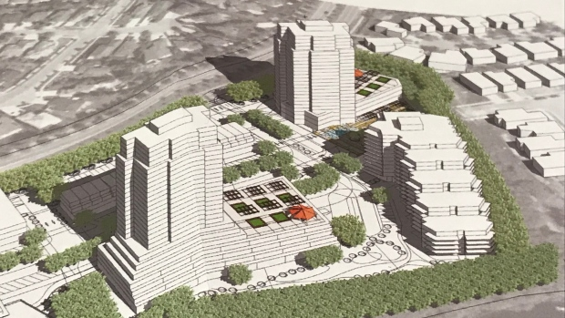 Proposed high-rise towers in St. Albert
