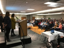 Developers speak at public meeting