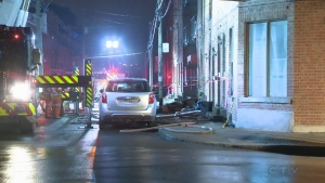 A fire on Beaudoin St. in St. Henri sent a woman to hospital in critical condition.
