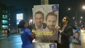 Federal election candidates have begun putting signs up across the country in preparation for Oct. 21.