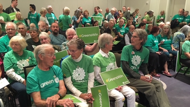 The Green Party of Canada is kicking off its election campaign in Victoria Wednesday morning, Sept. 11, 2019. (CTV Vancouver Island)