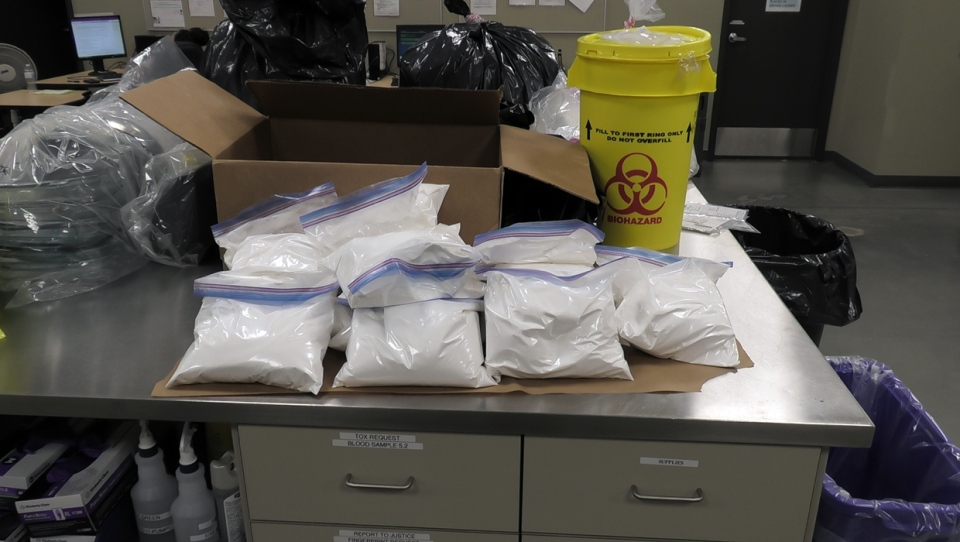Police confiscated 22.393 kilograms of phenacetin, a commonly used cutting agent.
