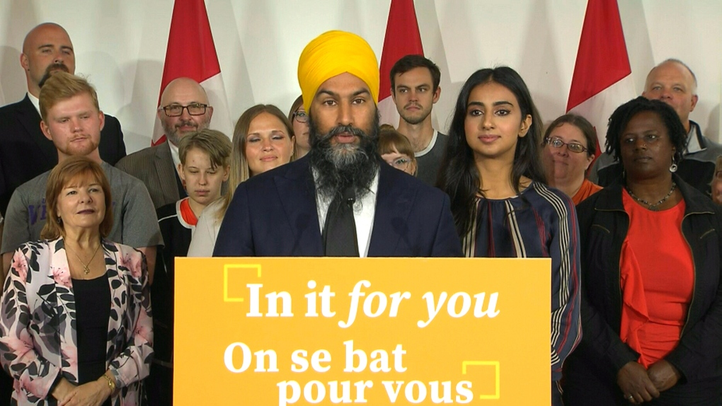 Jagmeet Singh's takes aim at Trudeau, Scheer