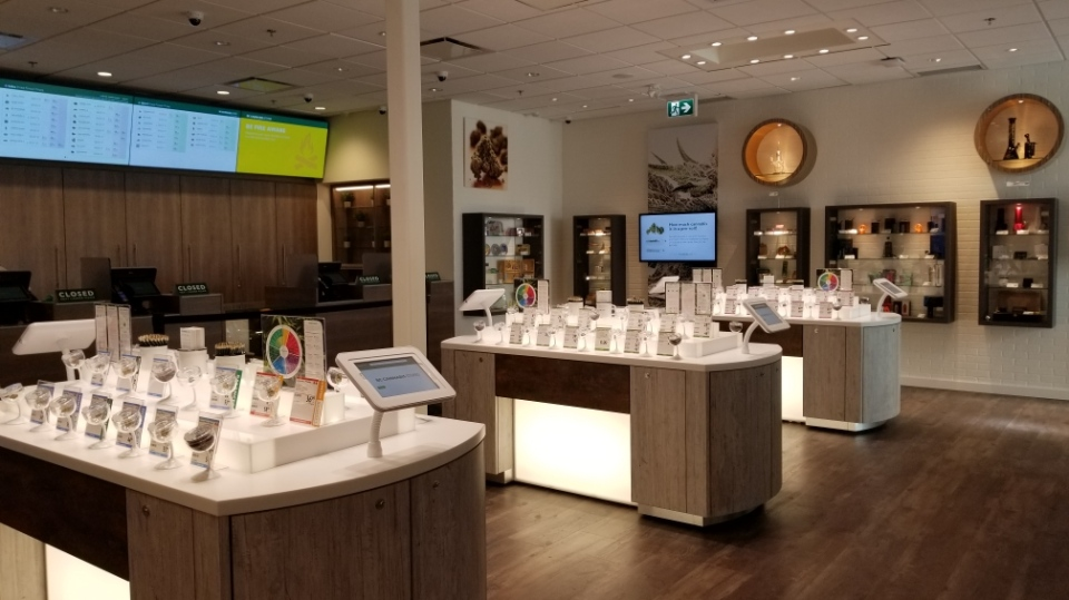 The interior of Port Alberni's BC Cannabis Store: Sept. 11, 2019 (BC Liquor Distribution Branch)