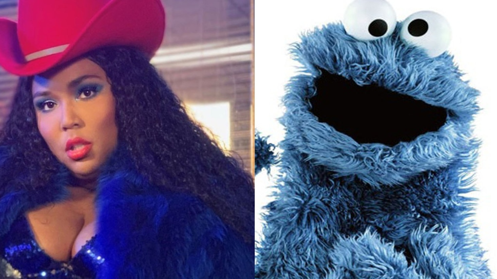 Lizzo and Cookie Monster