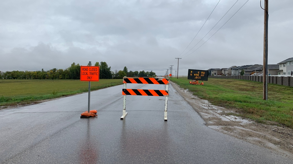 Regina road construction (Colton Wiens / CTV News Regina)