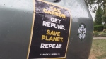 'Carbon Tax Works' oppose provincial stickers