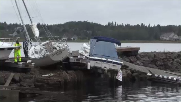 The storm caused thousands of dollars in damages and some boats have been deemed a total loss.