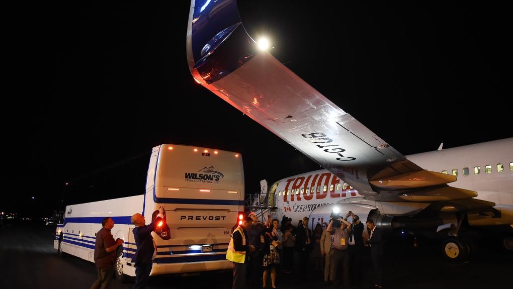 Liberal election plane damaged after media bus drives under