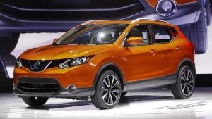 A 2017 Nissan Rogue Sport at the North American International Auto Show in Detroit, on Jan. 9, 2017. (Paul Sancya / AP)