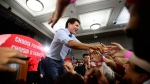 Liberal Leader Justin Trudeau greets the crowd during a campaign stop in Vancouver on Wednesday, Sept. 11, 2019. THE CANADIAN PRESS/Sean Kilpatrick
