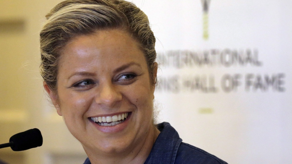 Tennis Hall of Fame inductee Kim Clijsters