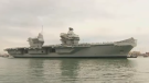 H-M-S Queen Elizabeth is a 65-thousand-tonne warship -- the biggest ever built for the Royal Navy.