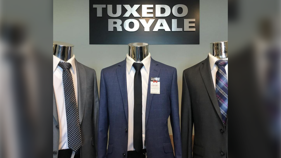 Wedding parties across Ontario are scrambling after the sudden closure of Tuxedo Royale. (Instagram/tuxedoroyale.formalwear)