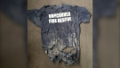 A Vancouver Fire Rescue shirt was pulled from the rubble at the World Trade Centre. (@IAFF18/Twitter)