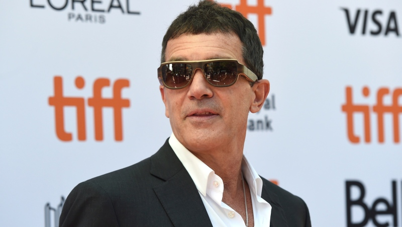 "Antonio Banderas attends a premiere for ""The Laundromat"" on day five of the Toronto International Film Festival at Princess of Wales Theatre on Monday, Sept. 9, 2019, in Toronto. (Photo by Chris Pizzello/Invision/AP)"
