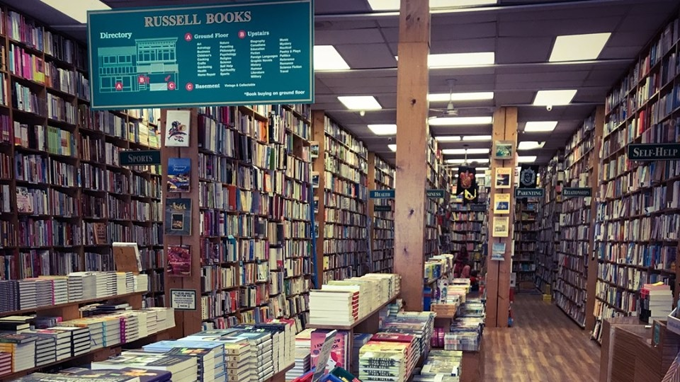 Russell Books located at 734 Fort Street (Photo courtesy of Russell Books)