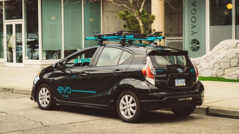 A car-share vehicle is shown in a provided image from Evo.