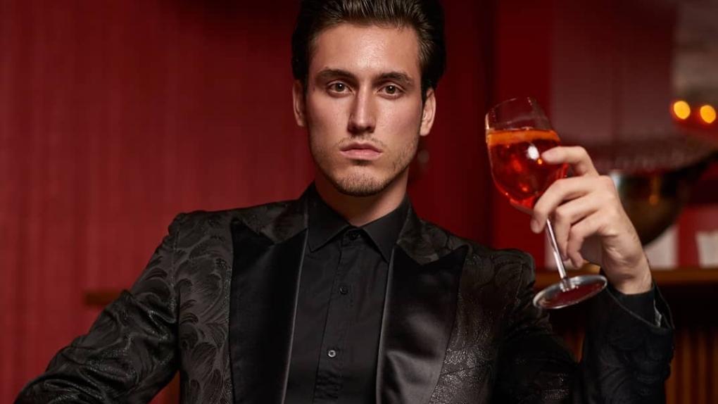 Black suit by Rhowan James