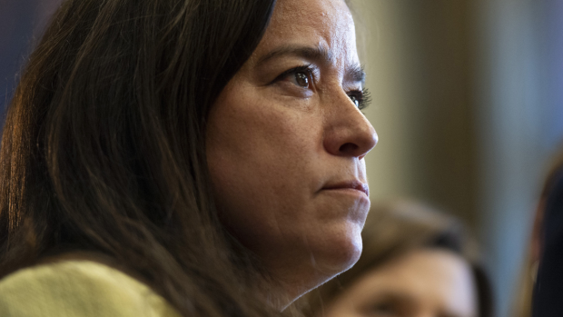 Jody Wilson-Raybould speaks to reporters before Question Period on Parliament Hill in Ottawa, a day after being removed from the Liberal caucus on Wednesday, April 3, 2019. (Justin Tang / THE CANADIAN PRESS)