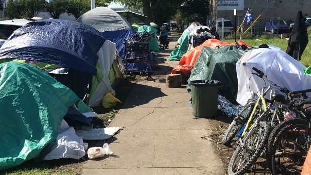 City dismantling 'tent city' downtown