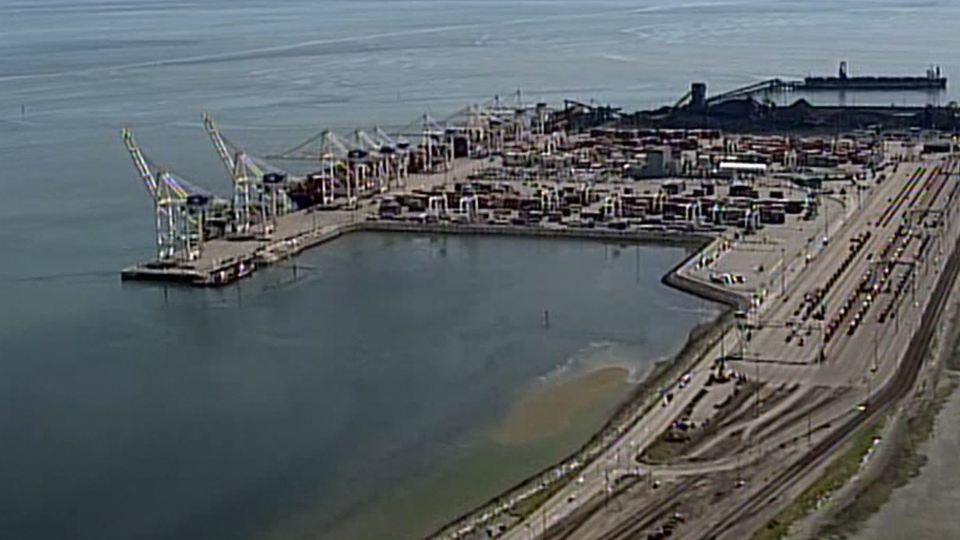 Dubord said currently the Canada Border Services Agency is in charge of checking incoming containers through the port. (CTV/Chopper9)